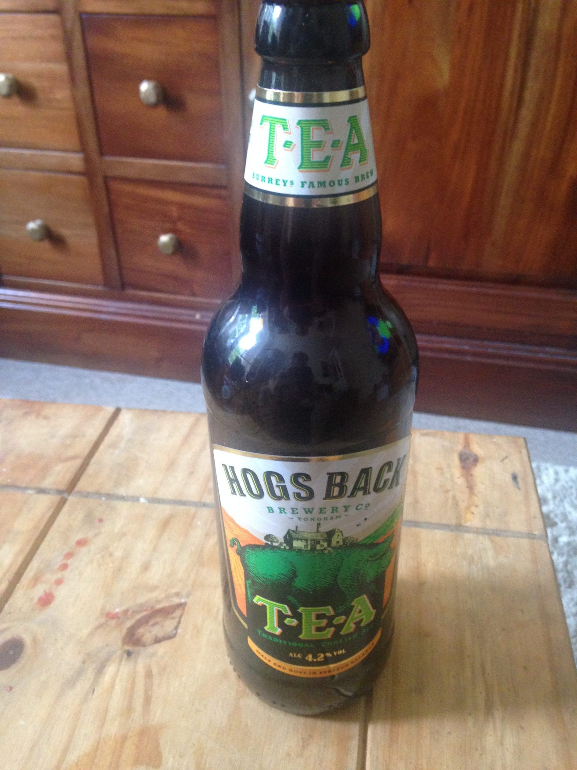 Beer, Hogs Back Brewery, TEA, looking back