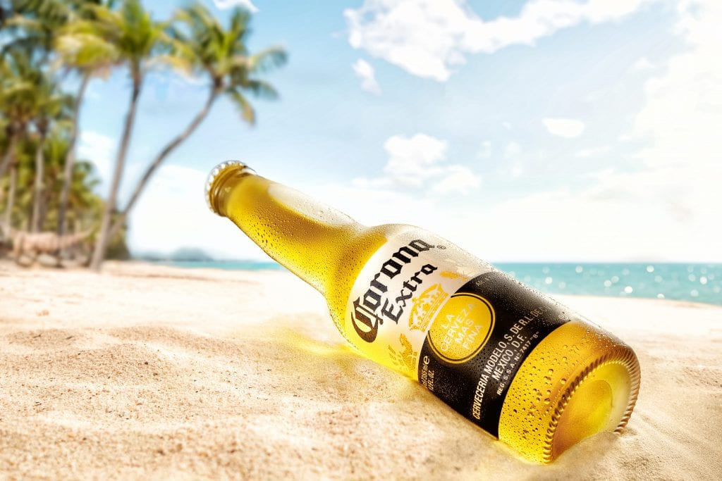 How many calories are there in a bottle of corona
