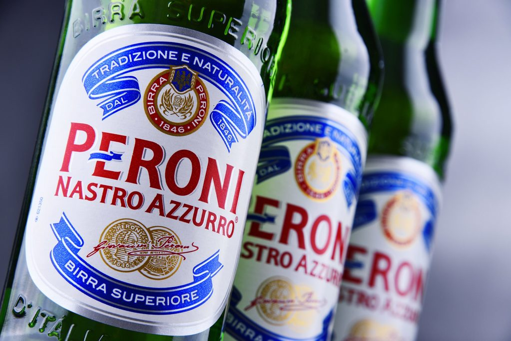 How many calories are there in a pint of Peroni?