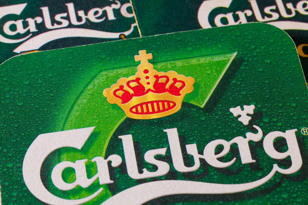 How many calories are there in a pint of Carlsberg