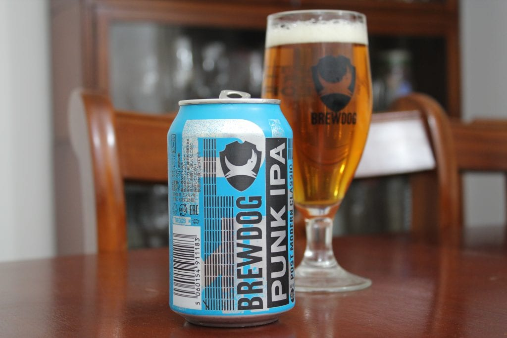 How many calories are there in a pint of brewdog punk IPA