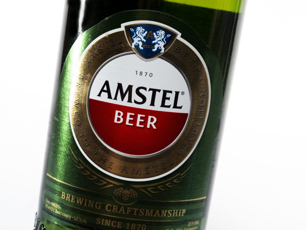 How many calories are there in a pint of amstel