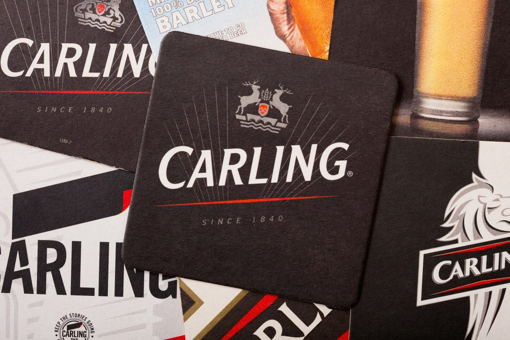 How many calories are there in a pint of carling
