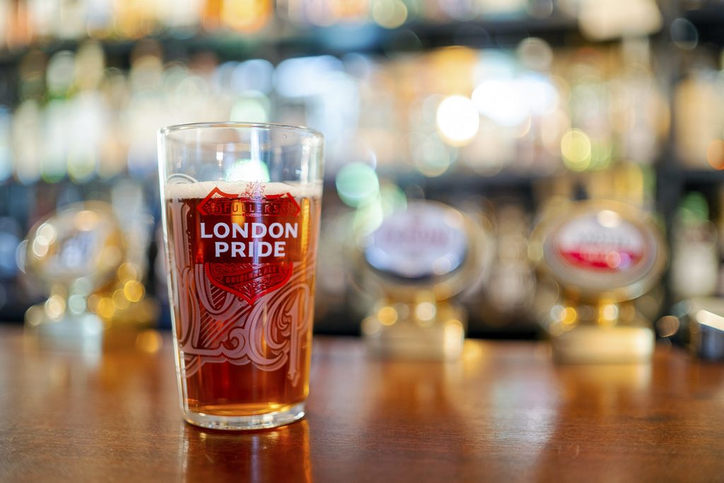 How many calories are there in a pint of london pride