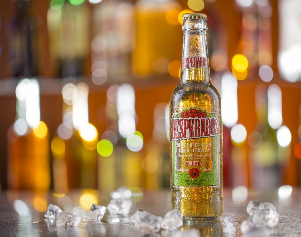How many calories are there in a bottle of desperados