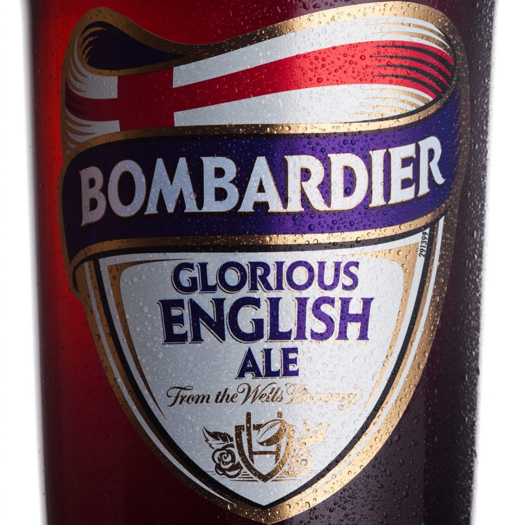 How many calories are there in a pint of Bombardier