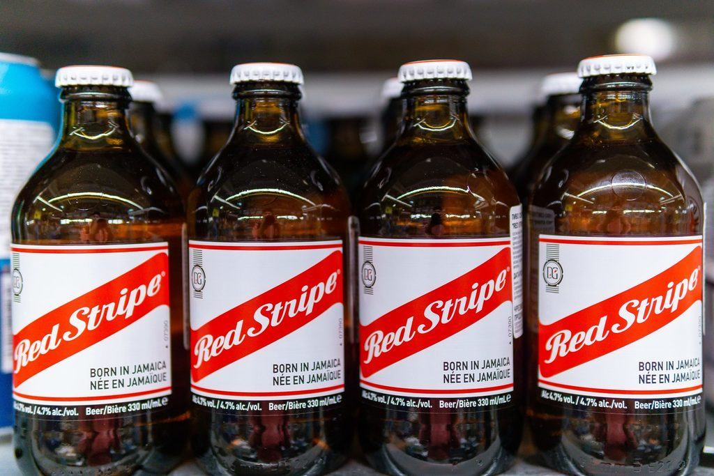 How many calories are there in Red Stripe