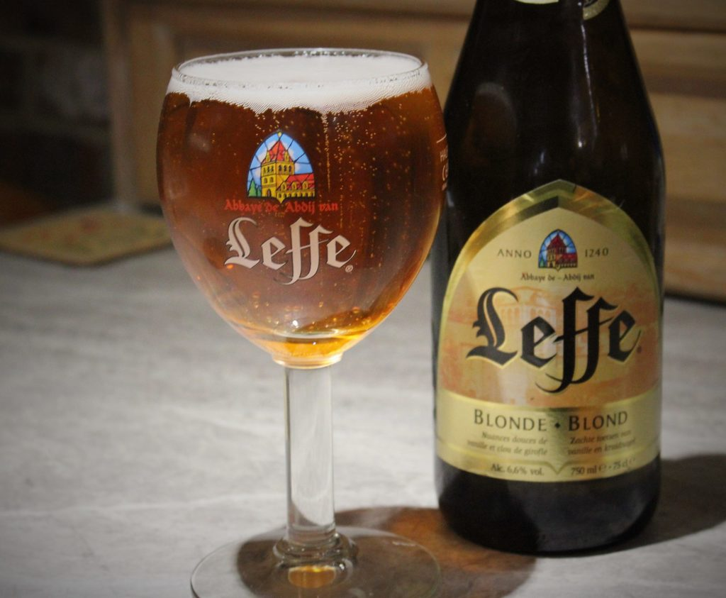 How many calories are there in Leffe Blonde