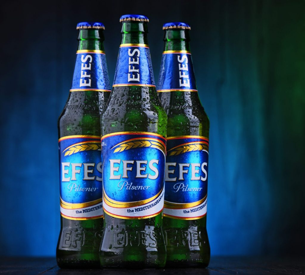 How many calories are there in a pint of Efes