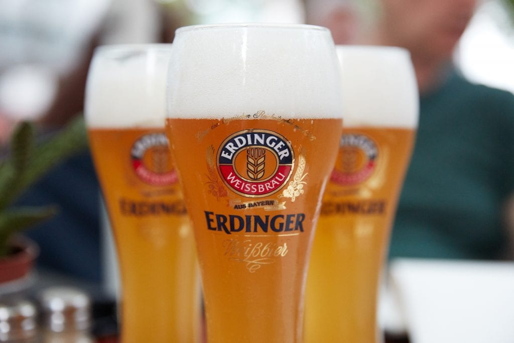 How many calories are there in Erdinger