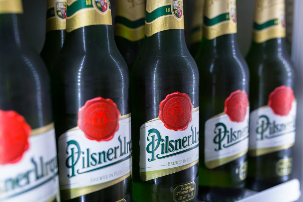How many calories are there in pilsner urquell