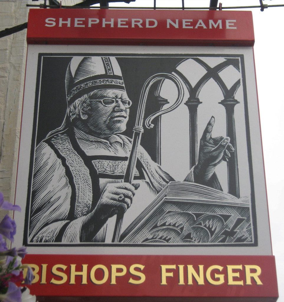 How many calories are there in a pint of Bishops Finger