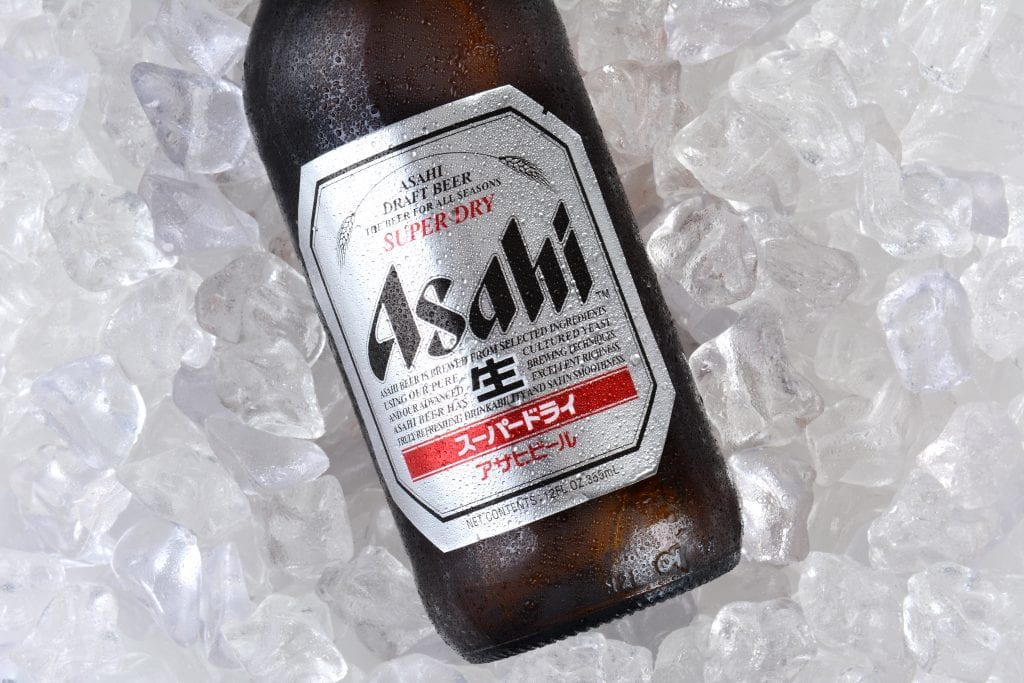 How many calories are there in Asahi?
