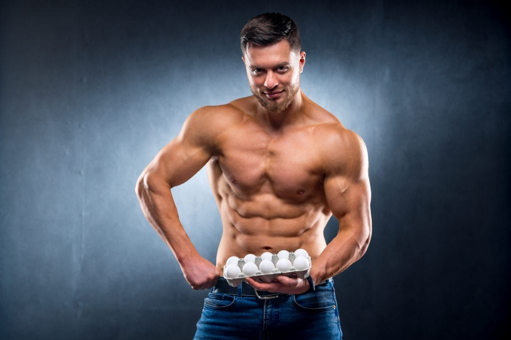 Why do bodybuilders eat raw eggs